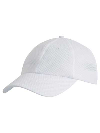 White Sports Mesh Cap