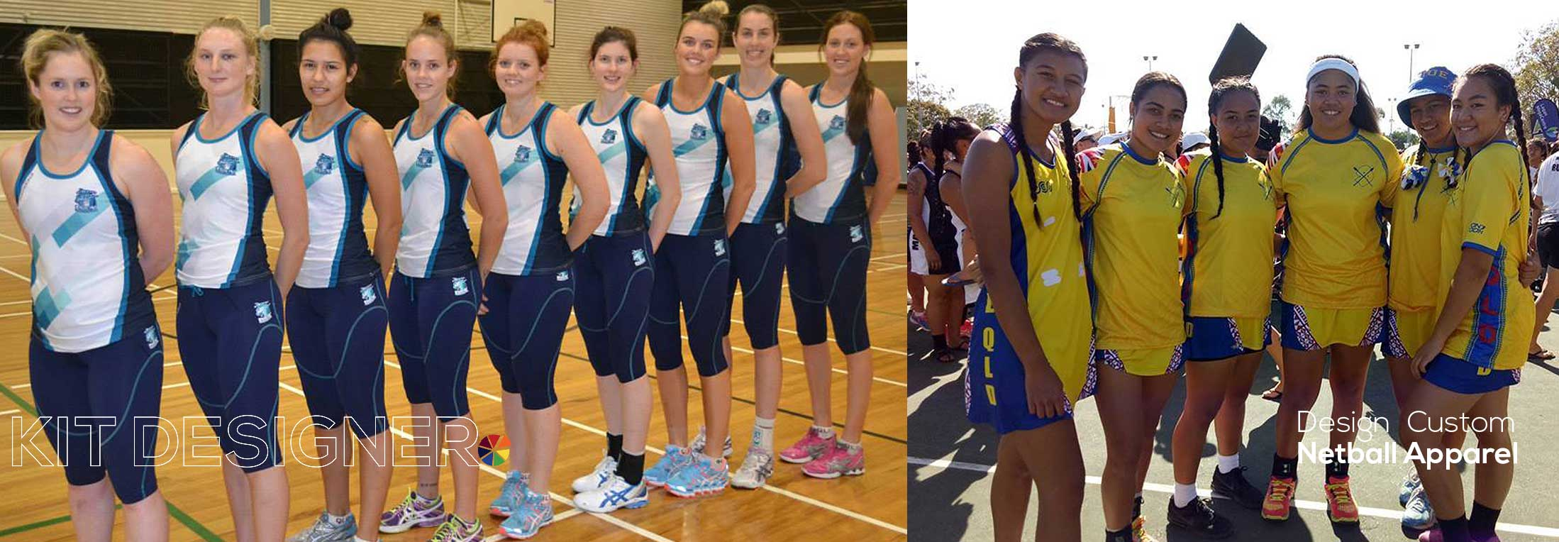 Netball Players Standing in a Line