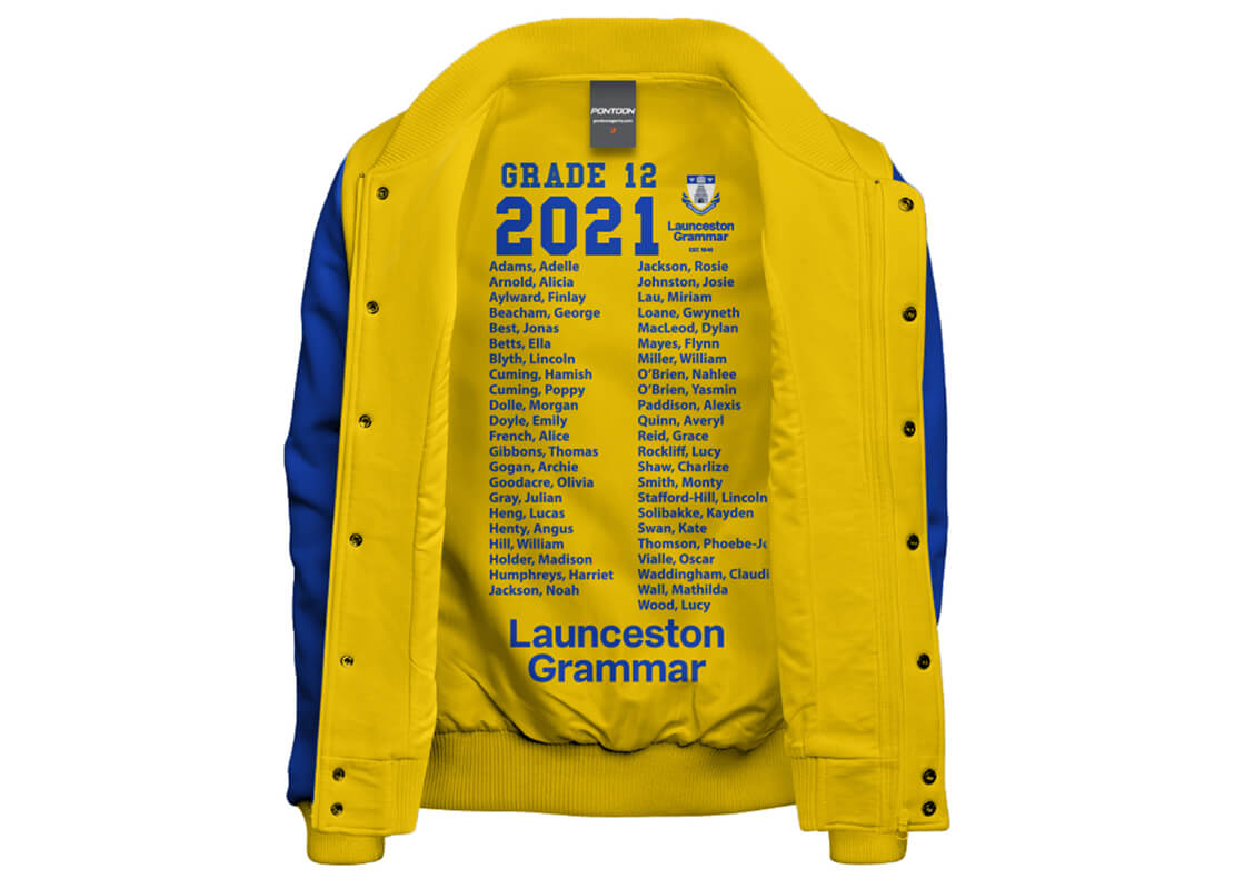 Printed Varsity Jacket Lining