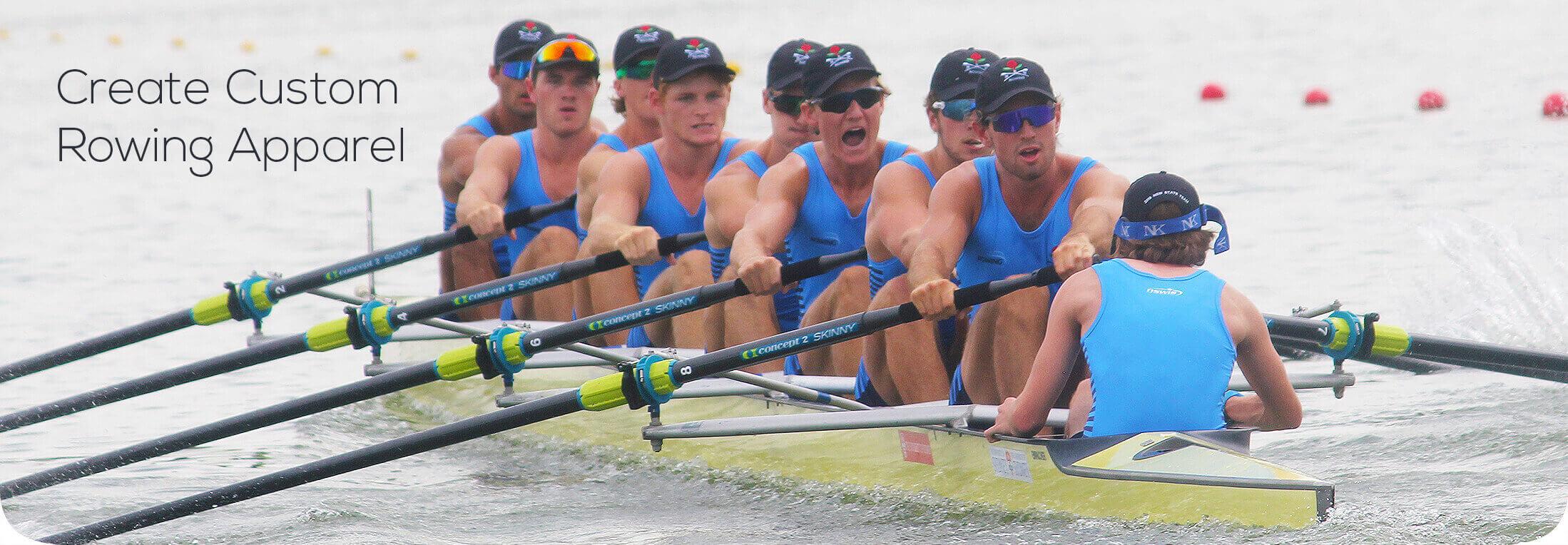Rowing crew winning a race